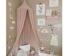 Gamloious Nordic Circular Weiß Himmelbett Valance Kinderzimmer Dekoration Bett Zelt moustiquaire Princess-Kind-Mädchen Runde Moskitonetz