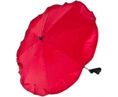 Baby Kind Sonnenschirm/Schirm für Kinderwagen/Buggy/Jogger UV SCHUTZ (50+) (ROT)