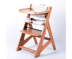 Treppenhochstuhl Babyhochstuhl Kinderhochstuhl Kindertreppenhochstuhl Babystuhl Hochstuhl NATUR 6551-D01 C