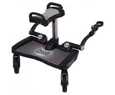 Lascal BB11077 Buggyboard Pedana Maxi Grau mit Sitzfläche, universell für Kinderwagen und Buggy