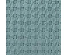 URBANARA Kissen Veiros - 100% Reine Baumwolle, Grüngrau in Strukturiertem Waffelmuster – 50 x 50 cm, 1 Kissenbezug + 1 Inlett, Deko-Kissen Zierkissen Sofakissen