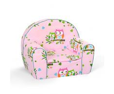 Babysitz Kindermöbel Kindersessel Kleinkind FOTELIK BOBAS (Rosa Eule)
