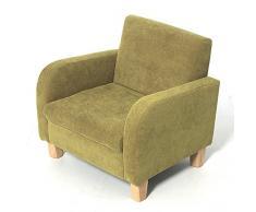 H3 Baby W309 Kindersessel Sofa Stoff Summer 3, limone grün