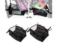 Lyguy Organizer-Tasche für Baby-Kinderwagen, Korb, Kinderwagen, Hängekorb - Silber