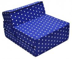 Best For Kids Kindersessel Bettsessel Funktionssessel Jugend Kindermatratze zum schlafen und Spielen 3 in 1 (Sternchen)