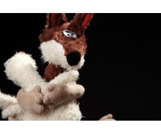 sigikid Beasts Kuscheltier für Erwachsene und Kinder, Fuchs mit Ente, Never let You go, Braun/Weiß, 38361