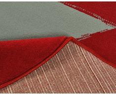 Hochwertiger Teppich Sternteppich / Teppich / Stern Teppich / hochwertiger Jugendteppich - Teppich - Wohnzimmerteppich - Wohnzimmer Teppich - Läufer - ca. 140 cm - Stern - Stars - rot - rund - beiger Stern - Dieses Highlight der