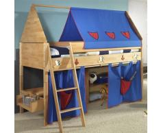 TAUBE Kinderbett Etagenbett Ritter 154 cm (Ausstattung: mit Treppe, Farbe: Buche-lackiert, Liegefläche (B x L): 90 x 190 cm)