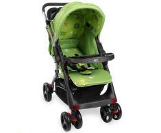 Kinderwagen RANGER S4-2 Gepolsterter 5-Punkt Sicherheitsgurt Grün