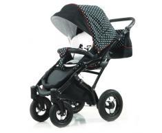 Knorr-Baby 33000-02 Kombikinderwagen Voletto Tupfen Limited Edition, schwarz-weiß