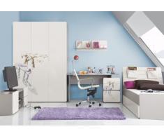 Kinderzimmer Jugendzimmer Set ELEGANCE Jugendmöbel komplett 4-teilig Kleiderschrank 3-türig Schreibtisch Bett Wandregal