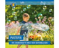 Pustefix Multi-Bubbler I 250 ml Seifenblasenwasser I Bunte Bubbles Made in Germany I Seifenblasen Spielzeug für Hochzeit, Kindergeburtstag, Polterabend I Große Seifenblasen für Kinder & Erwachsene