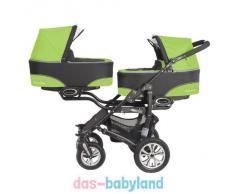 BabyActive Twinni Zwillingskinderwagen Geschwisterwagen Zwillingsbuggy Nr.06 Greenapple