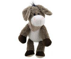 Lashuma Plüschtier Esel Grau - Creme | Kuscheltier Eselchen | Stofftier Schlenker ca. 28 cm