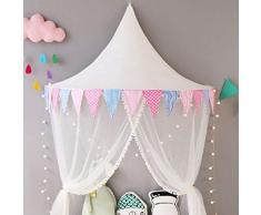 GQCDQ Indoor Kinder Himmelbett Zelte, Prinzessin Bett Markise Spielzelt mit Gaze Vorhänge für Baby Kinder lesen Spiel Zelt Kinderbett und Schlafzimmer Dekoration 65x120x60cm-C