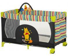 Hauck Kinderreisebett Dream N Play Go Disney/ inklusive Rollen, Matratze und Transporttasche / 120 x 60cm / ab Geburt / tragbar und faltbar / Pooh Tidy Time (Schwarz)