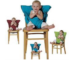 Botetrade Hochstuhl baby / tragbarer Stuhl-Sitzgurt / Hochstühle für Essen und Feiertagen / Bequeme und nicht zu besetzen Raum / Kindersitz Für Unterwegs - Passt in die Tasche / Eine zufällige Farbe senden blau