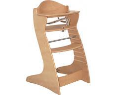 roba Treppenhochstuhl Chair Up , mitwachsender Hochstuhl für Babys & Kinder, Kinderhochstuhl Holz, natur