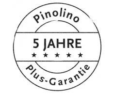Pinolino Kombihochstuhl Nele, stabiler, sowie lange und flexibel nutzbarer Kinderhochstuhl aus Kiefer klar lackiert, mit gepolstertem Foliensitz Pinos Spielwelt vanille, leicht umbaubar zur Stuhl-Tisch-Kombination, Maße 44