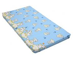 Kinderbettmatratze, Babymatratze 60x120 cm Kinder-Rollmatratze (Blau)