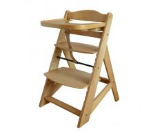 Treppenhochstuhl Babyhochstuhl Kinderhochstuhl Kindertreppenhochstuhl Babystuhl Hochstuhl NATUR 6551-D01 G