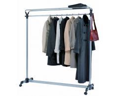 Rollgarderobe g nstig kleiderwagen garderobenwagen for Garderobe 1m breit
