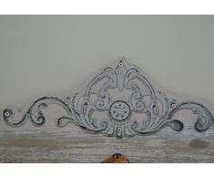49cm Wandgarderobe Bologna Ornament Holz Eisen creme beige bunt Nostalgie Vintage Metall Haken Gaderobe Garderobenhaken