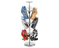 UPP Schuh-Rondell tragbar & drehbar I Kompaktes Schuhständer Ordnungssystem I Schuhregal bietet Platz für 18 Paar Schuhe I Platzsparender Schuhorganizer aus Metall