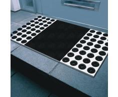 Radius - Fußmatte - feet Back II - Edelstahl - Kokosfaser - schwarz