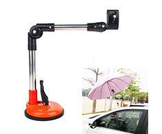 xxz Tragbarer Saugnapf-Schirmständer, verstellbare Teleskop-Universal-Regenschirmklemme Regen-Sonnenschutz Schnell zerlegbar, für die meisten Autos