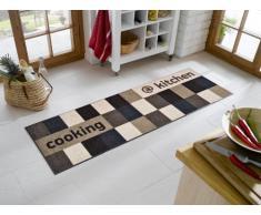 Wash+Dry Fußmatte Kitchen Brownish, 60x180 cm, Innen, waschbar, Braun