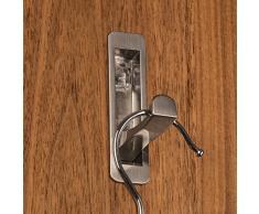 SO-TECH® Moderner Klapphaken Garderobenhaken Kleiderlüfter klappbar Zilly zum Einlassen | 80 x 20 / 66 mm | Edelstahloptik