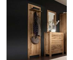 Wand-Garderobe Honey aus Wildeiche Massivholz Pharao24