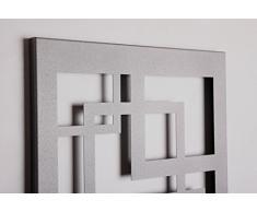 Wandgarderobe/Garderobe Design Quadrat, 140x40x2 cm, moonstone (Marke: Szagato, Made in Germany) (Kleiderständer Garderobenständer Wandpaneel Wanddeko Kleiderhaken Flurgarderobe)