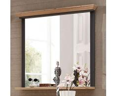 Lomadox Landhaus Flur-Garderoben Komplett-Set in Graphit Artisan Eiche - Breite: 280cm