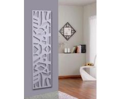 Wandgarderobe/Garderobe, Design Mosaik, 140x40x2 cm, weiß (Marke: Szagato, Made in Germany) (Kleiderständer Garderobenständer Wandpaneel Wanddeko Kleiderhaken Flurgarderobe)