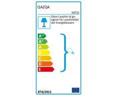 QAZQA Modern Stehleuchte/Stehlampe/Standleuchte/Lampe/Leuchte Bend mit schwarzem Schirm/Innenbeleuchtung/Wohnzimmerlampe/Schlafzimmer Stein/Beton/Stahl Länglich LED geeignet E27 Max. 1