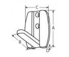 Kleiderhaken klappbar aus Edelstahl A4 AISI 316