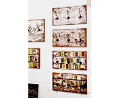 HAKU Möbel 42602 Wandgarderobe 60 x 12 x 30 cm, vintage