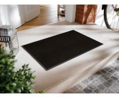 wash+dry Fußmatte Raven Black, 50x75 cm, innen und außen, waschbar, schwarz
