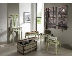 HAKU Möbel 89918 Wandgarderobe 70 x 9 x 100 cm, vintage