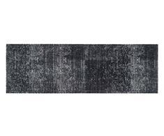 Bavaria Home Style Collection - Küchen-Läufer - Teppich - waschbar - anthrazit - grau - verspielt - schaut verwaschen aus ca 50 x 150 cm
