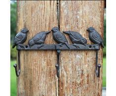 Joeesun Gusseisen fünf Vogel Haken Garten Lebensmittel europäischen Retro Schmiedeeisen Kleiderhaken Haken Garten Wandbehang liefert Haken