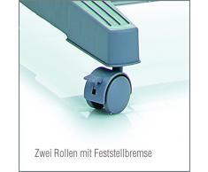 Zeller Rollkleiderständer, Metall/Kunststoff, grau