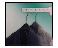 Kleiderlüfter 320mm klappbar weiß Kleiderhaken Haken Bügel Kleider Lüfter