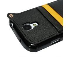 YOKIRIN Schwarz Weich TPU Phone Case Hängegarderobe Gurt Seil Abdeckung Hülle für Samsung Galaxy S5 i9600 Tasche Handytasche Zubehör