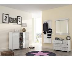 Schildmeyer 700780 Schuhschrank, 132 x 104,5 x 33 cm, weiß
