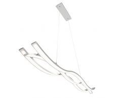 Briloner Leuchten LED Pendelleuchte, dimmbar, Hängelampe, Hängeleuchte, Wohnzimmerlampe, Pendel, LED Pendelleuchte, Esszimmerlampe, Esstischlampe, Pendelleuchte Esstisch, Pendellampe