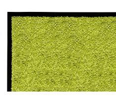 andiamo Schmutzfangmatte Fußabtreter Türmatte Fußmatte Sauberlaufmatte Schmutzabstreifer Türvorleger – Eingangsbereich In/Outdoor – rutschhemmend waschbar grün Polypropylen– 60x90 cm – 5 mm Höhe