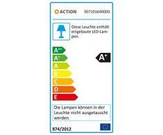 Action Stehleuchte 1-flammig, Serie NOIS, 1 x LED, 5 W, 6-6 V, Höhe 148.5 cm, Kelvin 3000, Lumen 400